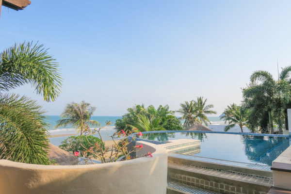 Infinity pool - next to the restaurant at Aleenta Hua Hin Pranburi