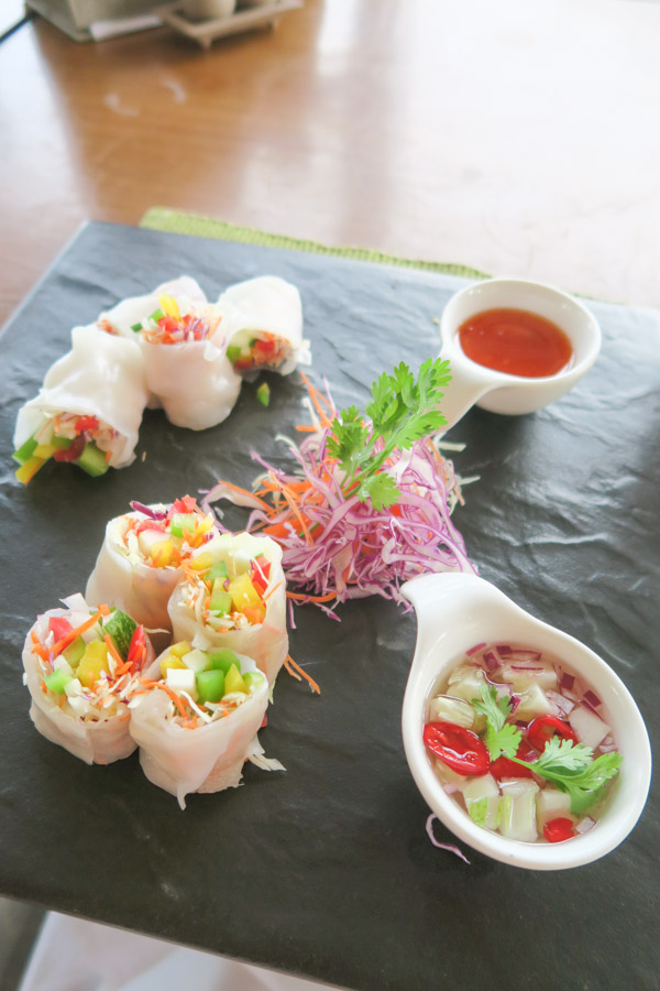 Yummy fresh roll at Aleenta Hua Hin Pranburi