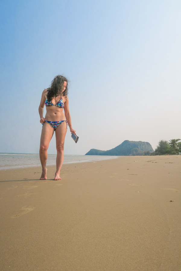 Me on the beach behind Aleenta Hua Hin Pranburi