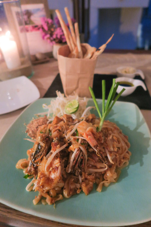 Pad Thai dinner at Aleenta Hua Hin Pranburi