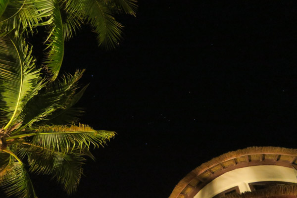 You could see the stars so clearly in the night sky! Aleenta Hua Hin Pranburi