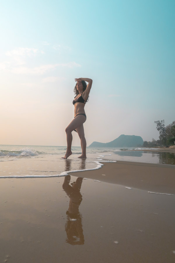 Me on the beach at Aleenta Hua Hin Pranburi
