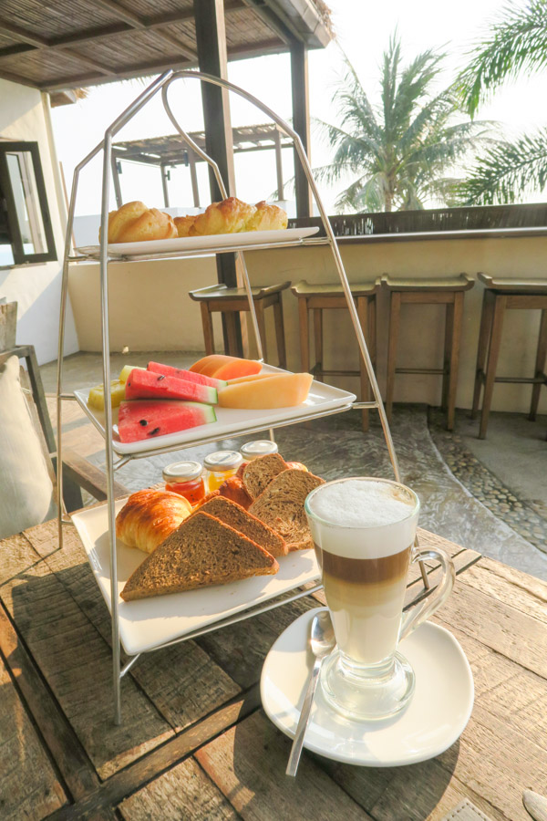 Amazing breakfast tower - included with my room at Aleenta Hua Hin Pranburi