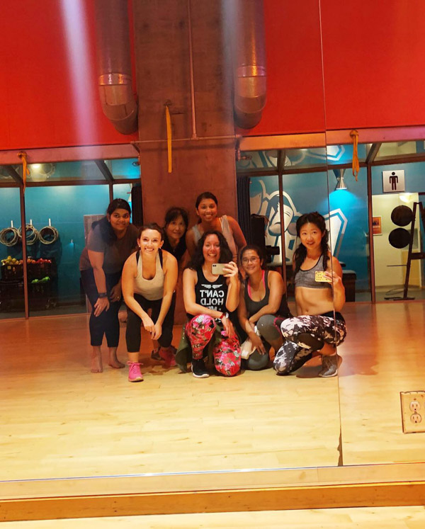 My first Zumba class in San Francisco, CA!