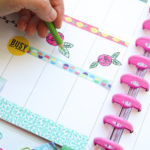 Doodles + washi tape for a colorful weekly spread in my Happy Planner for the week of PlannerCon 2019! This is made with ink pen and colored pencils in addition to washi tape and stickers. Love the flower doodles! #planner #planning #plannerdecorations #plannerideas #happyplanner
