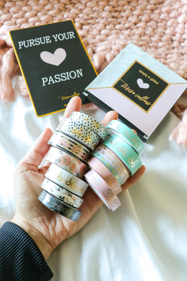 Click for photos and a video of this Simply Gilded Teresa Collins Washi Tape Haul | Cute Planner Supplies #planner #plannersupplies