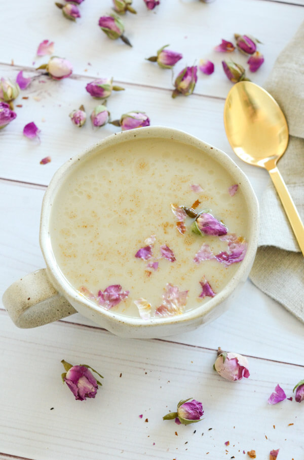 This naturally relaxing Tulsi Tea CBD Latte recipe may help you with anxiety, insomnia, and chronic pain. Plus it's delicious! Click for the recipe and dets #recipe #healthy #healthyrecipes #cleaneating #vegan #vegetarian #cbd #naturalwellness #holistichealth