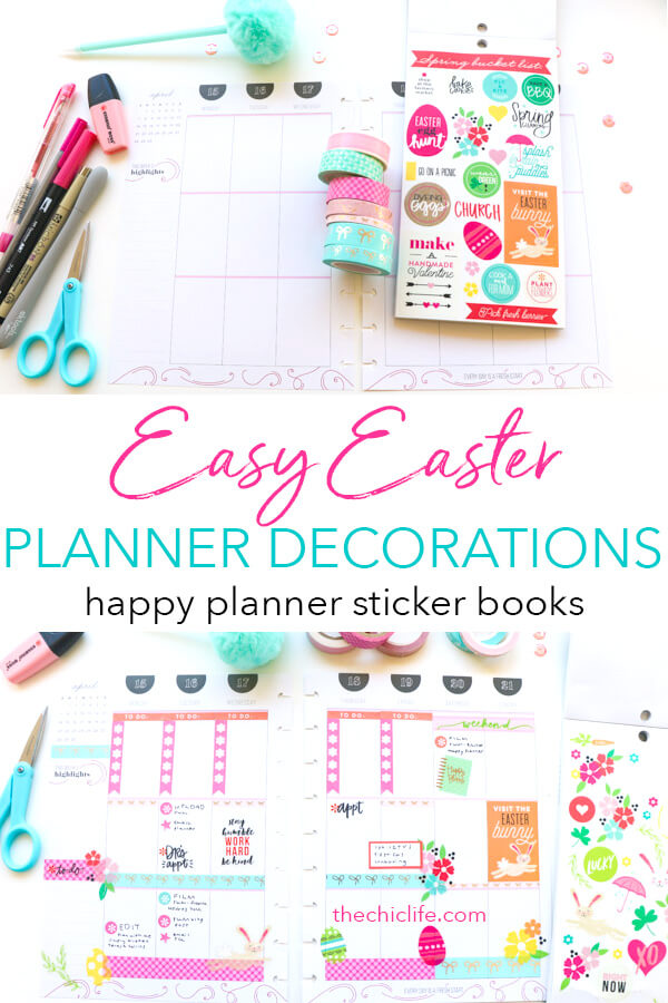 Click to watch this Plan with Me Easter Theme video | Happy Planner Decorations | April 2019 #planner #planning #plannerdecorations #plannerideas #happyplanner