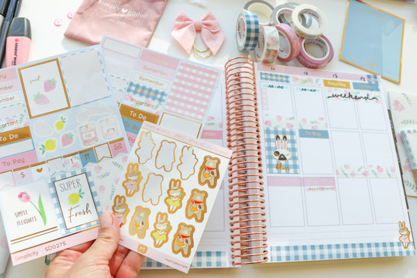 Click to watch this Plan with Me featuring the Simply Gilded March Subscription Box 2019 | Pretty Spring planner decorations #planner #plannerdecorations #plannerdecorating #plannerideas