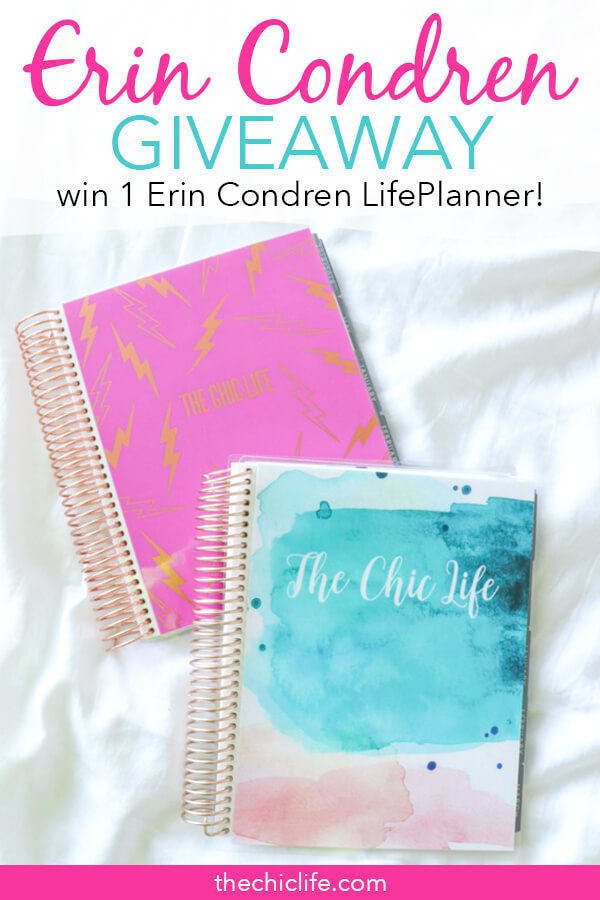 Click to learn how to win 1 Erin Condren LifePlanner 2019 - get details and rules and learn how to enter #erincondren #planner