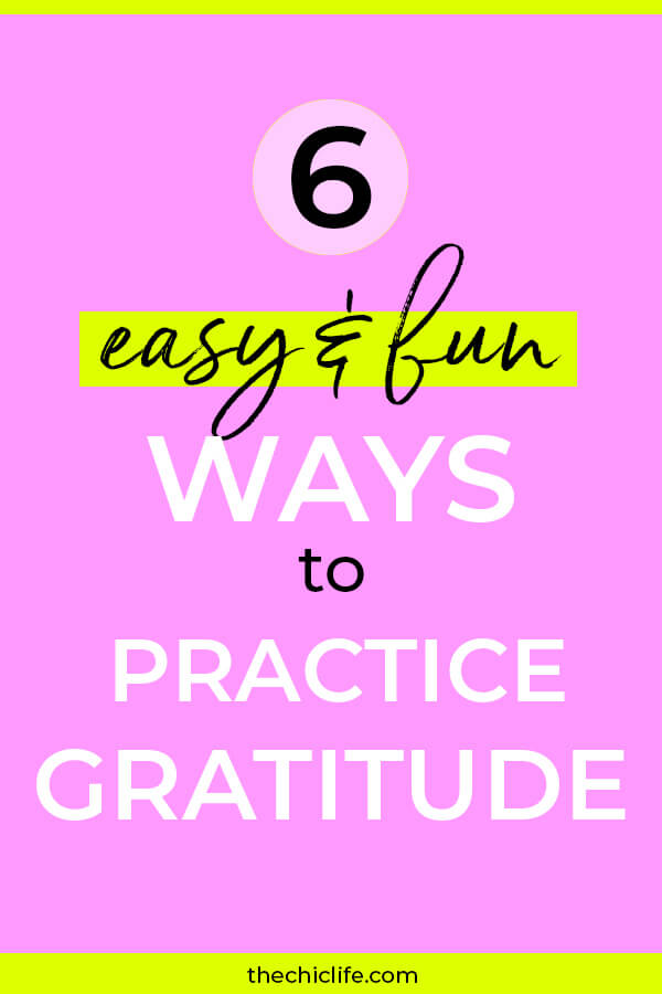Getting into abundance is fun and easy! Click to learn 6 ways to practice gratitude for just a couple minutes a day in many different ways! #selfimprovement #mindset #personalgrowth #personaldevelopment #selfhelp #changeyourlife  #mindset #goodvibes #habits #successhabits #dailyhabits