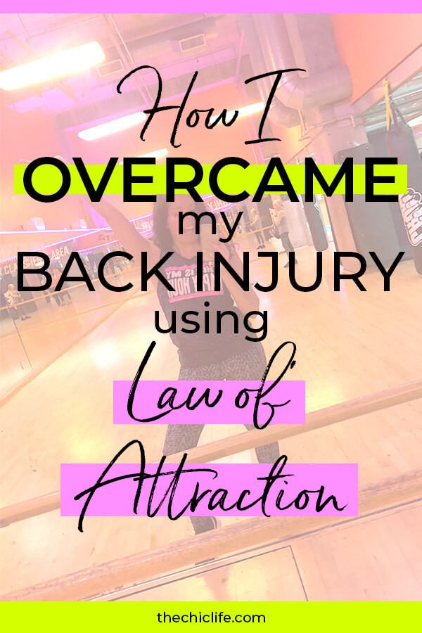 Click to learn how I healed my back injury using Law of Attraction techniques #lawofattraction #loa #healing #selfimprovement #mindset #personalgrowth #personaldevelopment #selfhelp #changeyourlife  #mindset #goodvibes #habits #successhabits #highvibes