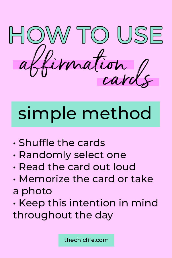 Click to learn more about using affirmation cards for positive & high vibe living to manifest your dream life #selfimprovement #lawofattraction #manifest #personaldevelopment #manifestation #changeyourlife #mindset #goodvibes #habits #successhabits #dailyhabits #quoteoftheday #quotestoliveby #quotesdaily #quotestoremember #theuniverse