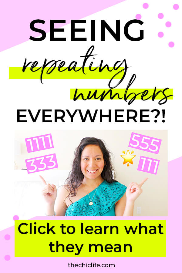 Click to learn what repeating numbers mean. These angel numbers are signs from the Universe that can be extremely meaningful to your high vibe life. #lawofattraction #loa #manifestation #manifest #personalgrowth #personaldevelopment #woowoo #changeyourlife  #goodvibes #successhabits #highvibes #spirituality #theuniverse