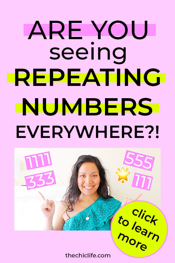 Seeing repeating numbers EVERYWHERE?! Click to learn what they mean in terms of getting into alignment and manifesting your dreams! #lawofattraction #loa #manifestation #manifest #personalgrowth #personaldevelopment #woowoo #changeyourlife #goodvibes #successhabits #highvibes #spirituality #theuniverse