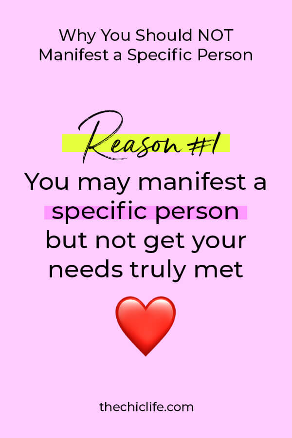 Here's one reason you should NOT manifest a specific person. Check out my post and video for reason number 2! And how to attract your true love using Law of Attraction #lawofattraction #loa #manifestation #manifest #personalgrowth #personaldevelopment #woowoo #changeyourlife #goodvibes #manifestlove #highvibes #spirituality #theuniverse