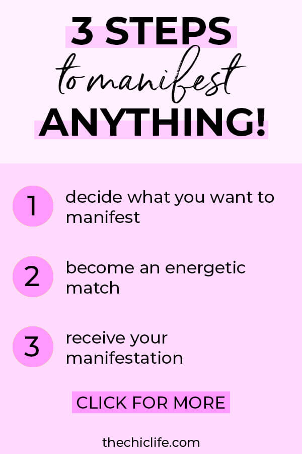 Learn how to use the 3 steps to manifest anything you desire with Law of Attraction. Great beginners tips so you can manifest like a pro. #lawofattraction #loa #manifestation #manifest #personalgrowth #personaldevelopment #woowoo #changeyourlife  #goodvibes #manifestlove #highvibes #spirituality #theuniverse