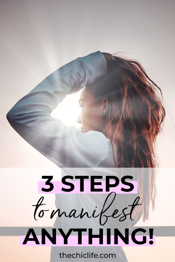 You just need to know these 3 simple steps to manifest anything you want using the Law of Attraction. Click to learn more #lawofattraction #loa #manifestation #manifest #personalgrowth #personaldevelopment #woowoo #changeyourlife  #goodvibes #manifestlove #highvibes #spirituality #theuniverse