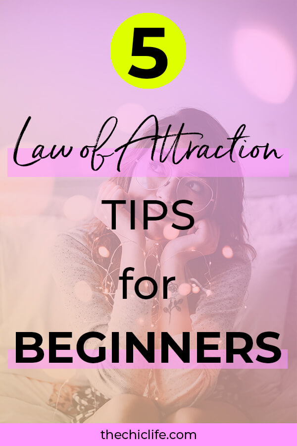Click for 5 Law of Attraction tips for beginners. Easy ideas to get your manifestations started on the right foot and prevent mistakes most people make #lawofattraction #loa #manifestation #manifest #personalgrowth #personaldevelopment #woowoo #changeyourlife  #goodvibes #manifestlove #highvibes #spirituality #theuniverse