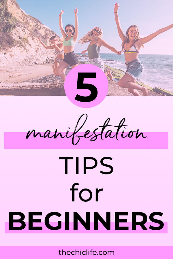Learn 5 Manifestation tips for beginners - simple ideas that will help you get started using Law of Attraction with success and ease! #lawofattraction #loa #manifestation #manifest #personalgrowth #personaldevelopment #woowoo #changeyourlife  #goodvibes #manifestlove #highvibes #spirituality #theuniverse