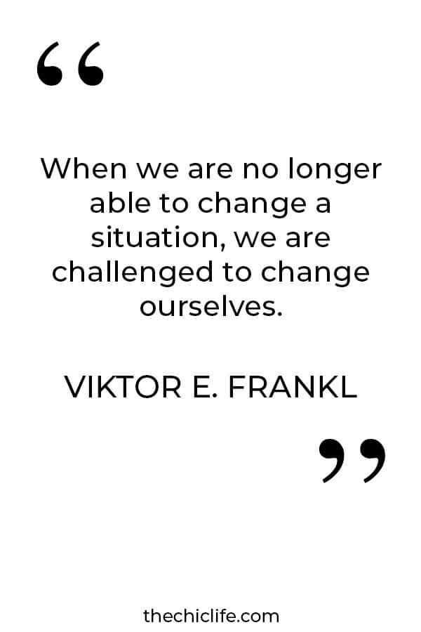 How to deal with difficult times - Viktor Frankl quote. Click for the High Vibe Turbulent Times Support Guide. #inspirationalquote #personalgrowth #personaldevelopment #selfwork #changeyourlife  #goodvibes #highvibes #selfcare #positivemindset #positivethinking #quote #anxiety