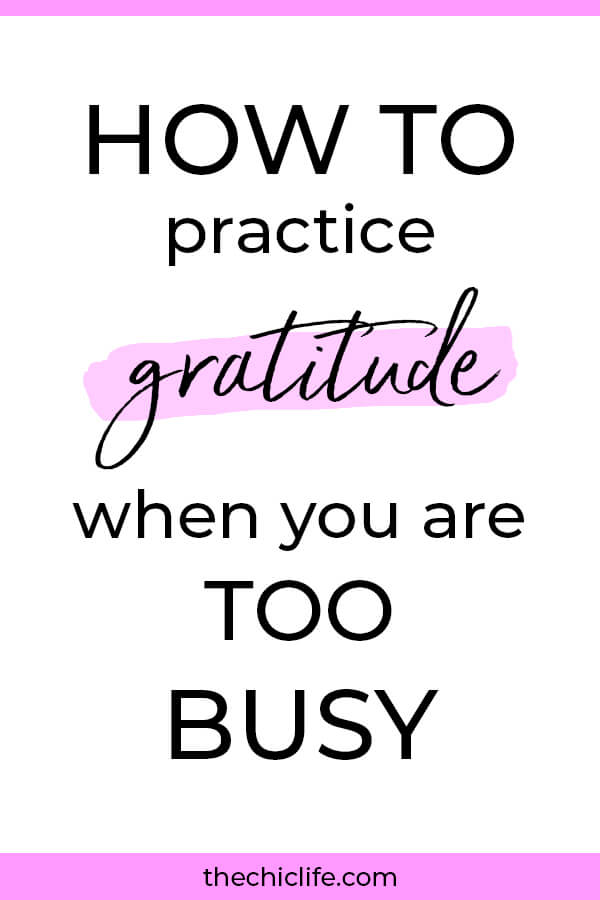 Busy? Here are 5 quick and easy ways to practice gratitude that won't conflict with your schedule. #5 is my favorite! #lawofattraction #loa #manifestation #manifest #personalgrowth #personaldevelopment #woowoo #changeyourlife  #goodvibes #highvibes #spirituality #theuniverse