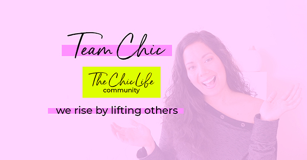 Team Chic High Vibe Tribe - Private Facebook Group Cover for The Chic Life Community