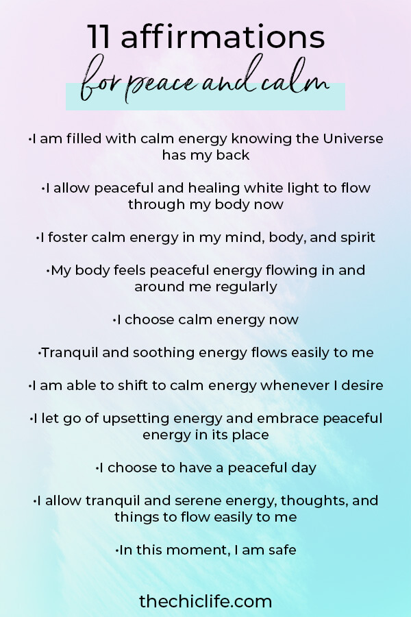 Use these affirmations for peace and calm when you're feeling stressed or overwhelmed. Shift into relaxing and calming energy with these healing affirmations #lawofattraction #loa #manifestation #manifest #personalgrowth #personaldevelopment #goodvibes #highvibes #spirituality #theuniverse #mindset #quote #affirmation #stressmanagement