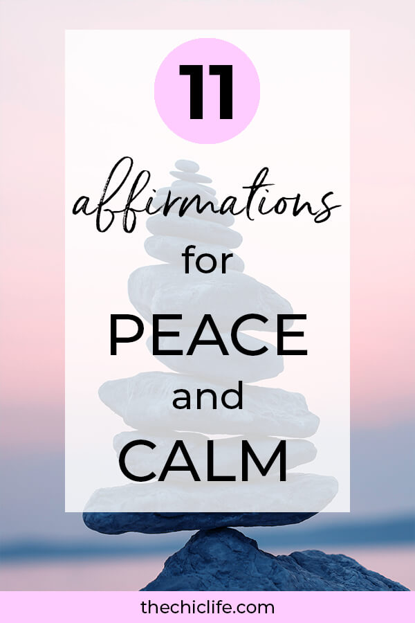 Click for 11 affirmations for peace and calm. Relax, de-stress, and manage overwhelm with these soothing affirmations #lawofattraction #loa #manifestation #manifest #personalgrowth #personaldevelopment #goodvibes #highvibes #spirituality #theuniverse #mindset #quote #affirmation #stressmanagement