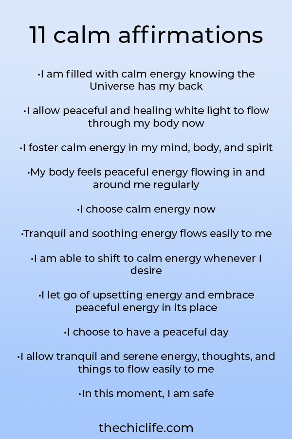 Looking to de-stress and relax? Use these 11 affirmations for peace, calm, and healing. Shift away from low vibe and into high vibe energy for your highest good #lawofattraction #loa #manifestation #manifest #personalgrowth #personaldevelopment #goodvibes #highvibes #spirituality #theuniverse #mindset #quote #affirmation #stressmanagement