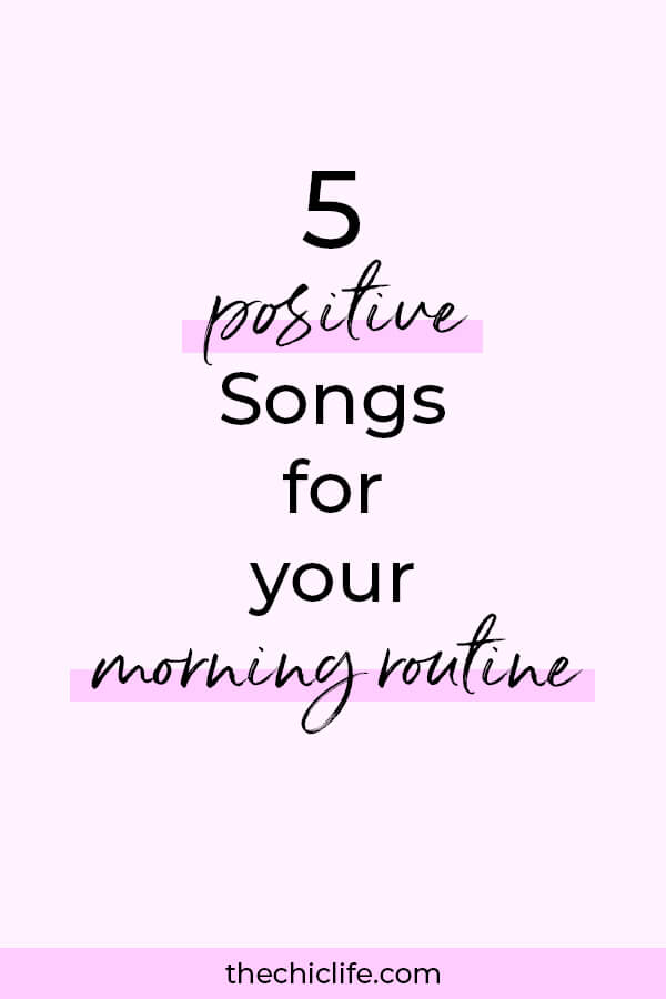 Use these 5 positive and uplifting high vibe songs to enjoy a beautiful morning routine in a relaxed, calm, and enjoyable way #inspirationalquote #personalgrowth #personaldevelopment #selfwork #selfimprovement  #goodvibes #highvibes #selfcare #positivemindset #positivethinking #raiseyourvibe #anxiety