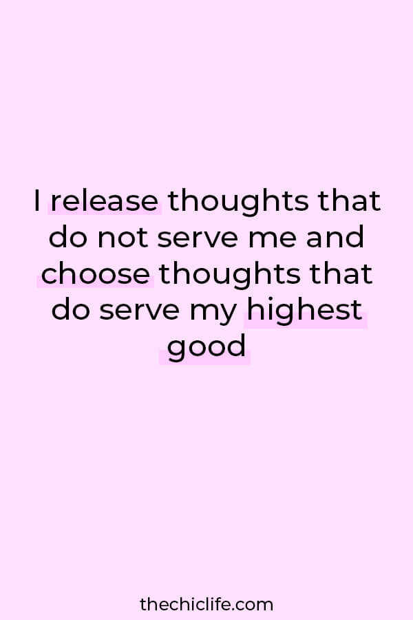 Use this affirmation to release negative and low vibe thoughts to help overcome anxiety/stress/overwhelm during turbulent times #lawofattraction #loa #manifestation #manifest #personalgrowth #personaldevelopment #woowoo #changeyourlife  #goodvibes #highvibes #spirituality #theuniverse #mindset #quote #affirmation