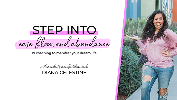 Step Into Ease, Flow, and Abundance - The Chic Life signature one-on-one coaching program designed to help you harness the power of your thoughts so that you can manifest your dream life