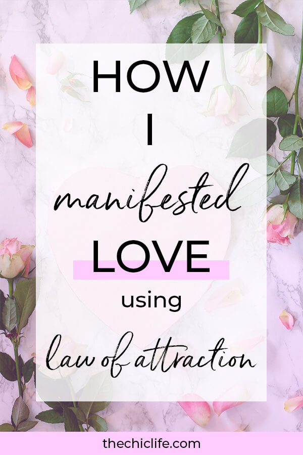 Learn how I manifested LOVE using the Law of Attraction. Here are my success tips to attract your ideal relationship - great for LoA beginners #lawofattraction #loa #manifestation #manifest #personalgrowth #personaldevelopment #goodvibes #highvibes #spirituality #theuniverse #mindset #LawOfVibration #successhabits