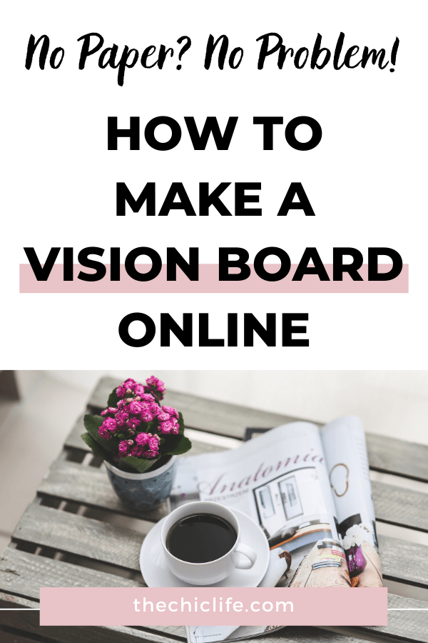 No paper? No problem! Learn how you can make a vision board online for FREE with these simple steps. Video tutorial included! #lawofattraction #loa #manifestation #manifest #personalgrowth #personaldevelopment #goodvibes #highvibes #spirituality #theuniverse #mindset #LawOfVibration #successhabits #visionboard