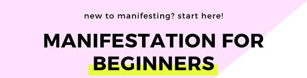 Manifestation for Beginners title image for The Chic Life web site and blog