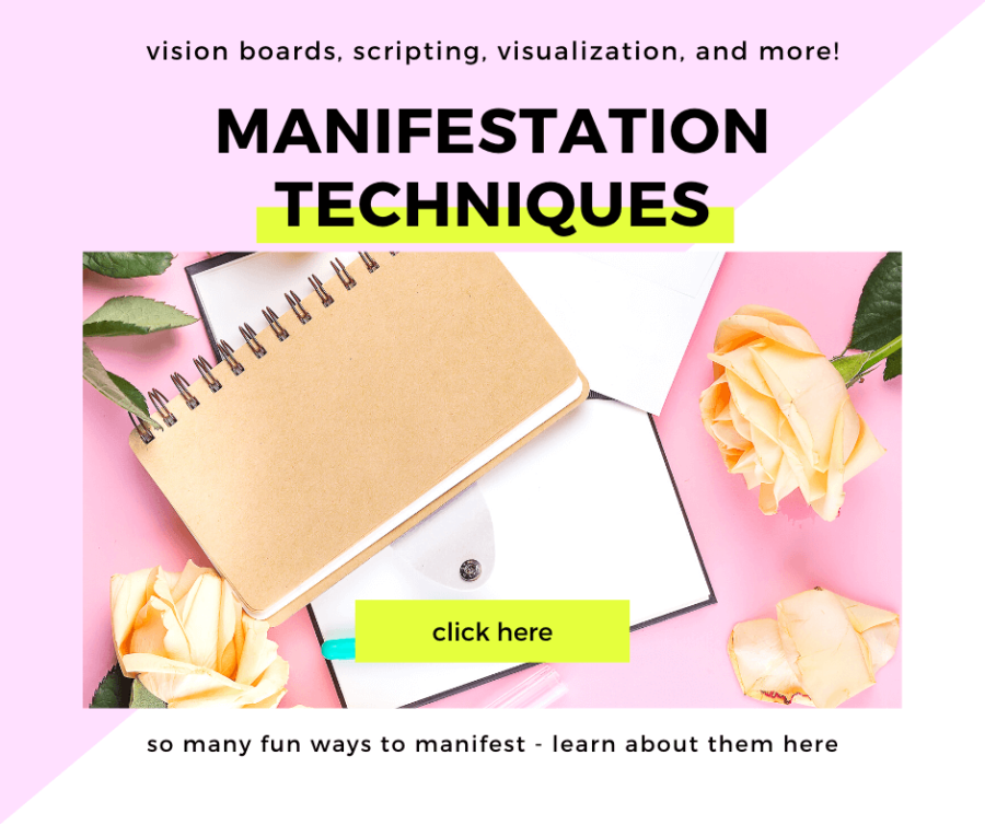 get Manifestation Techniques - learn about vision boards, scripting, affirmations, visualization, and more! #manifestation #lawofattraction