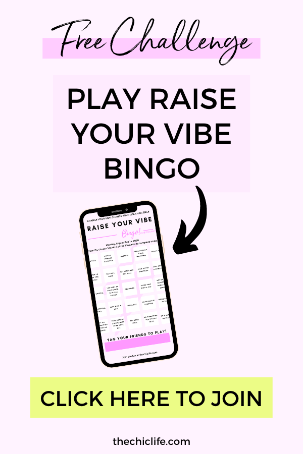 Play Raise Your Vibe Bingo! Free 5-Day Challenge
