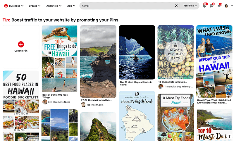 Search billions of Pinterest pins to make your dream vision board online