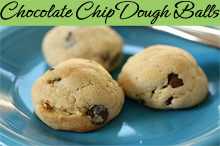 Easy Chocolate Chip Cookie Dough Balls