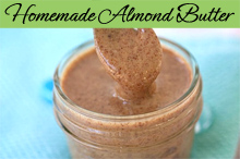 homemade honey roasted cinnamon-wink almond butter
